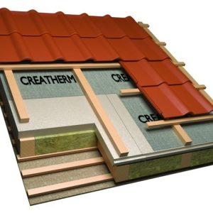 Creatherm hőszigetelő panel - szarufák feletti hőszigetelés