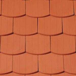 Creaton Szász hódfarkú szegmensvágású kerámia tetőcserép 15,5x38x1,2 - Natúrvörös